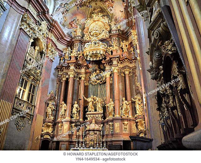 Chapel interior  Melk Abbey, Austria