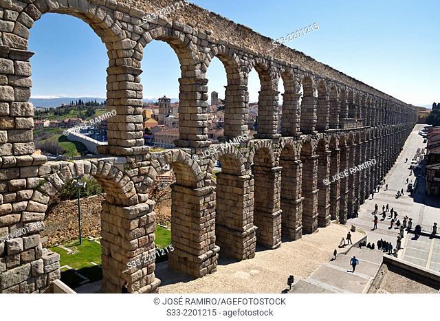 Acueduct of Segovia. Castilla Leon. Spain