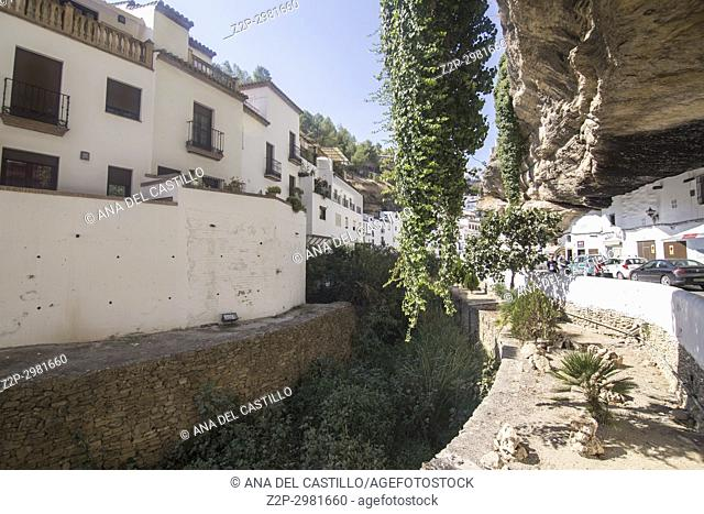 Setenil de las Bodegas is one of the most beautiful villages in Spain, Andalusia, Spain