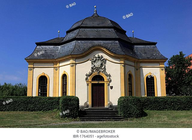 Gartensalett pavilion of Abbot Boniface Gessner, Kloster Maria Bildhausen abbey at Muennerstadt, Landkreis Bad Kissingen district, Lower Franconia, Bavaria