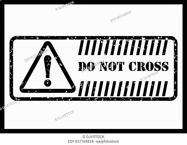 Warning sign digital design, vector illustration 10 eps graphic