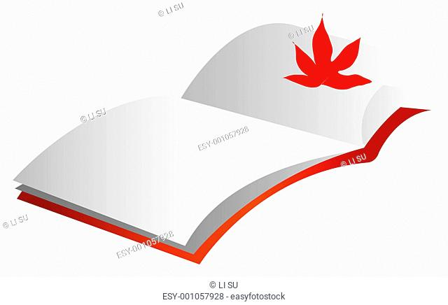 maple leaf and book