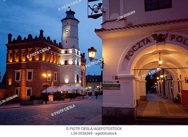 Poland. Sandomierz. The Market Square with the Town Hall