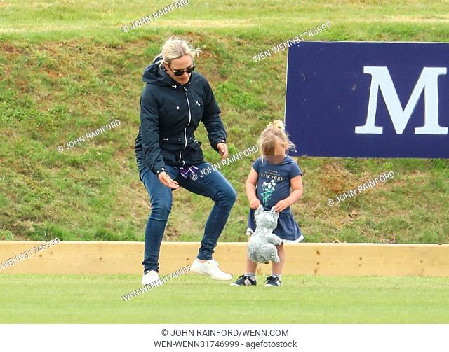 Gloucestershire Festival of Polo at Beaufort Polo Club in Westonbirt, Gloucestershire. Featuring: Zara Tindall, Zara Phillips, Mia Tindall Where: Westonbirt