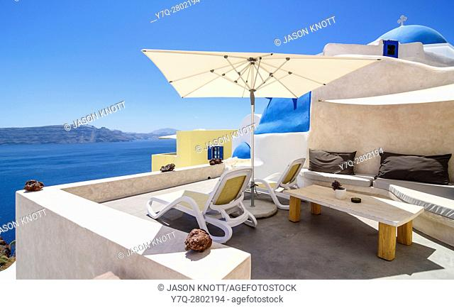 Luxury accommodation in Oia, Santorini, Cyclades, Greece