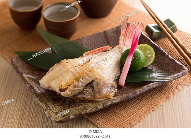 Grilled Red Fish Marinated with Sake Kasu
