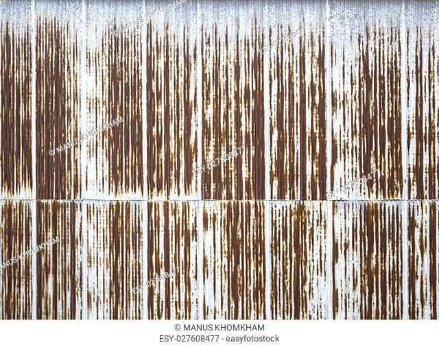 Surface of rusted on galvanized iron plate