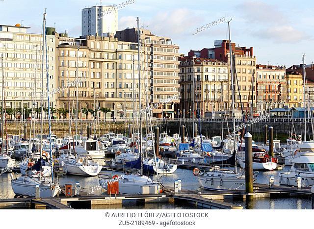 Marina. The Pier, Gijón, Asturias, Spain