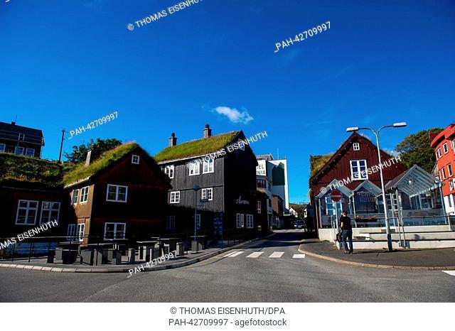 Torshavn, Faroe Islands, 10 September 2013. Around 50, 000 people live on the Faroe Islands, under the sovereignty of Denmark, in the North Atlantic