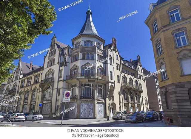 Vintage building, Neustadt, Strasbourg, Alsace, France