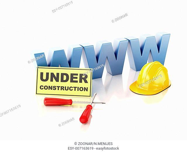 Website under construction concept. 3d illustratio