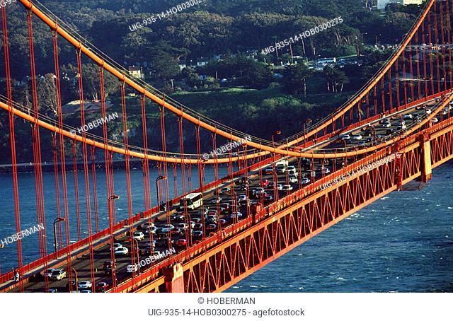 Rush Hour on Golden Gate Bridge, San Francisco