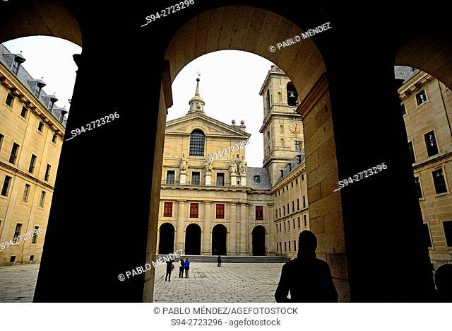 Church in the monastery of El Escorial, San Lorenzo de El Escorial, Madrid, Spain