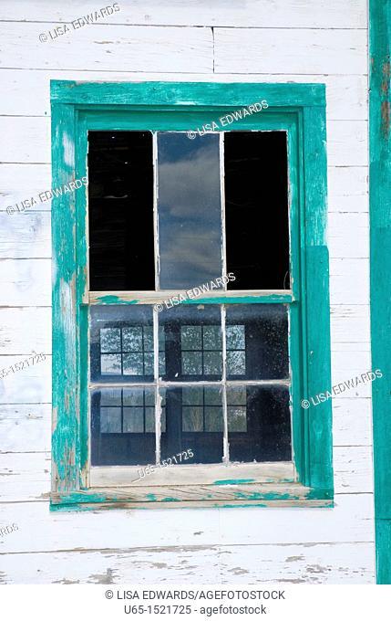 View through a window, Saratoga, Wyoming, USA