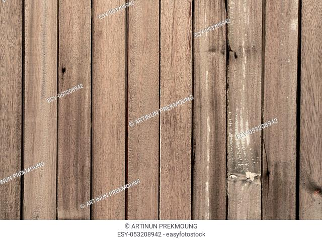Closeup brown wood with unique pattern texture background with copy space for text. Background for death, sad and grieving