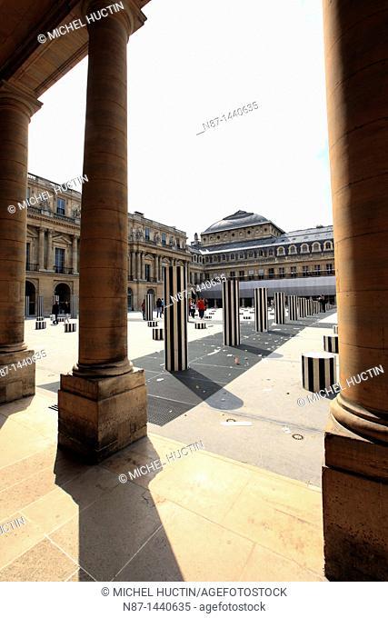 Daniel Buren's columns, Court Palace-Royal in Paris