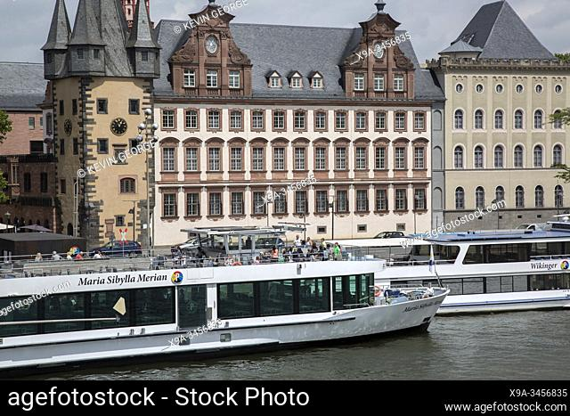 History Museum and River Cruise Boat, Frankfurt; Germany