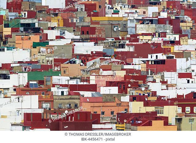 Colourful popular quarter in Algeciras, Cadiz province, Andalusia, Spain