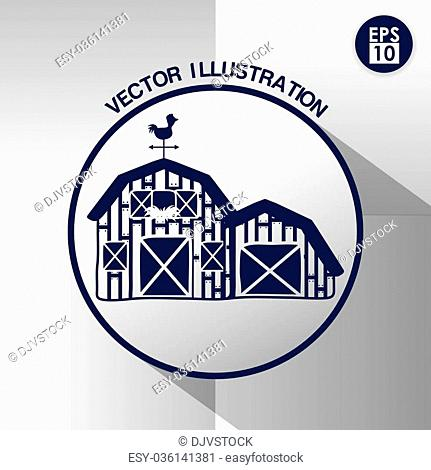 Farm concept with stable icons design, vector illustration 10 eps graphic