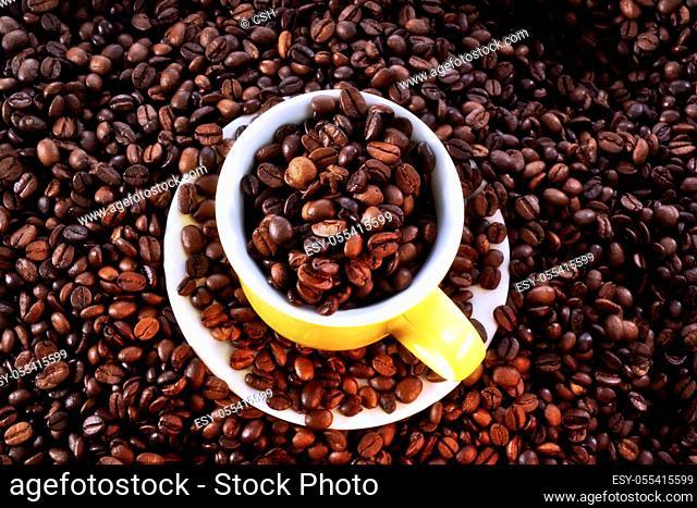 coffee, coffee cup, coffee beans