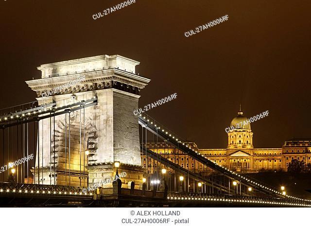 Szechenyi Chain Bridge and Buda Castle