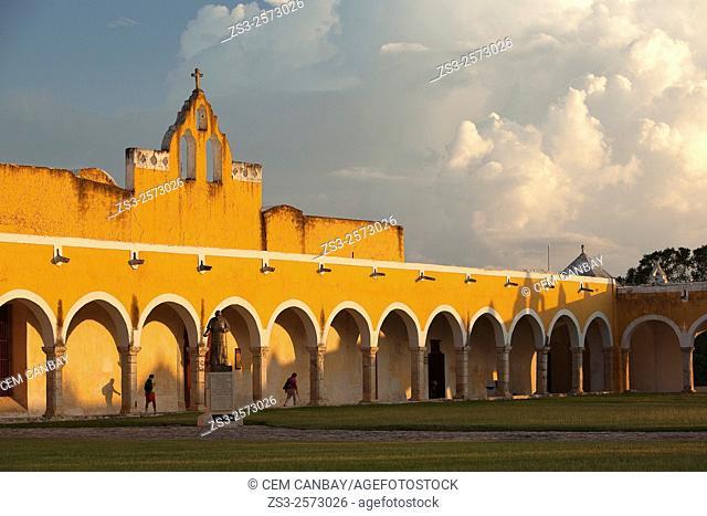View to the Monastery-Convent Of San Antonio De Padua, Izamal, Yucatan Province, Mexico, Central America
