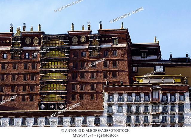 the potala palace. lhasa. lhasa prefecture. tibet. china. asia
