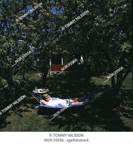 Man resting outside