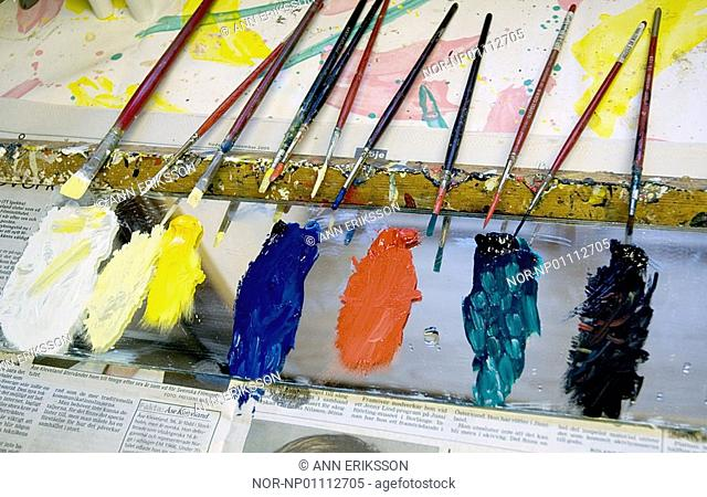 Brushes for painting of Dalahorses, Dalarna 2006