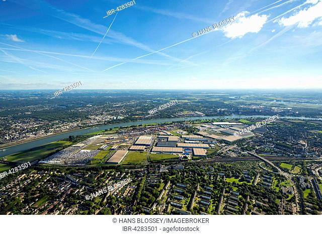Logport I Duisport, logistics center Rheinhausen, Duisburg, Ruhr district, North Rhine-Westphalia, Germany