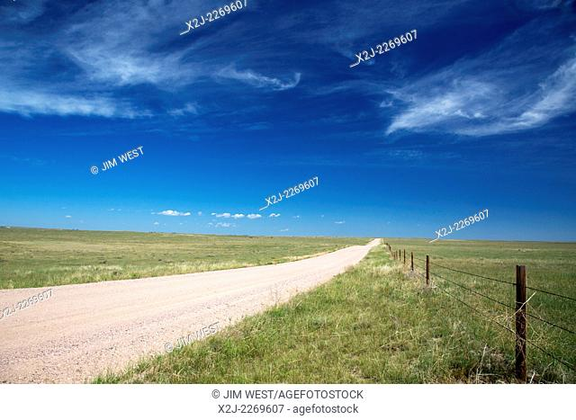 Purcell, Colorado - The empty prairie in Pawnee National Grassland