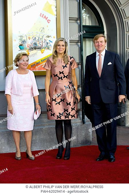 Ank Bijleveld (L-R), King Willem-Alexander and Queen Maxima of The Netherlands attend the closure event of the celebration of 200 years kingdom of the...