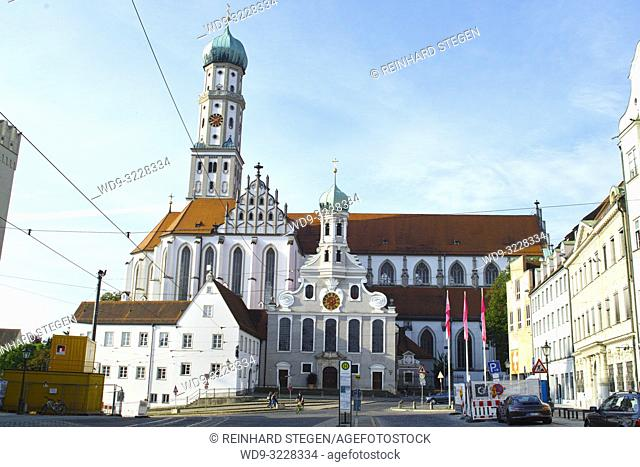 Basilica of SS. Ulrich and Afra, Roman catholic church, Augsburg, Bavaria, Germany