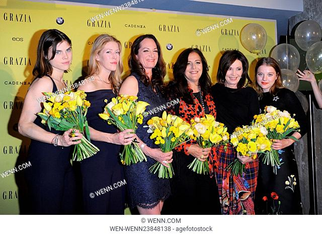 Grazia magazine Germany's Best Inspiration Award 2016 at Soho House in Mitte Featuring: Carolyn Hodler, Anna-Christin Haas, Angela Missioni, Natalia Woerner