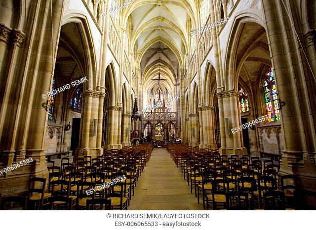 interior of basilica Notre-Dame-de-l'Eoine, L'Epine, Champagne, France