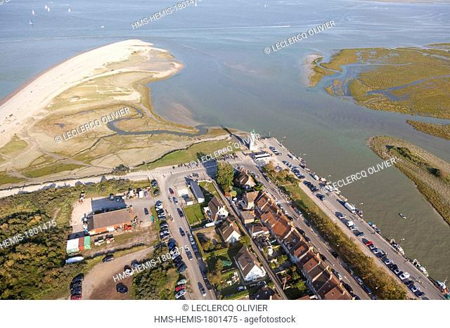 France, Somme, Baie de Somme, Le Hourdel (aerial view)