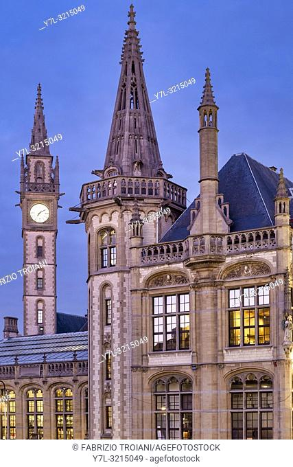 1898 The Post, a hotel opened in 2017 in the upper floors of Ghentâ. . s old post office building. Ghent, Flanders, Belgium