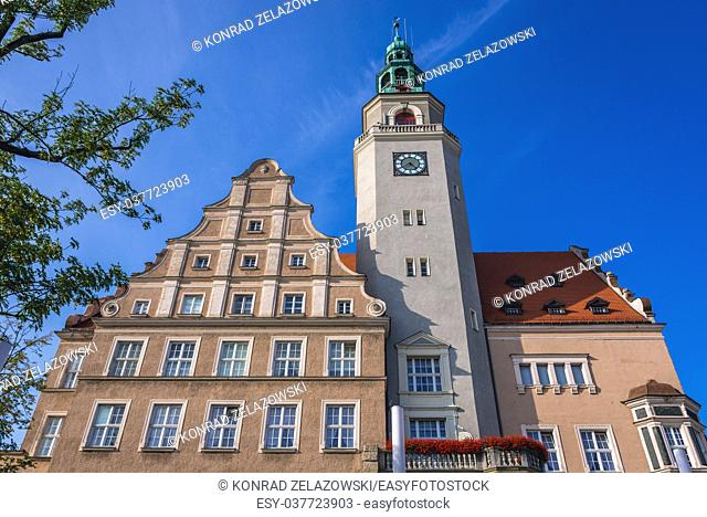 Building of the New City Hall in Downtown District of Olsztyn city in Warmian-Masurian Voivodeship of Poland