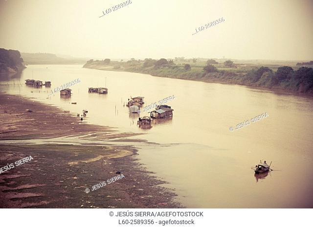 Boats in Hanoi. Vietnam