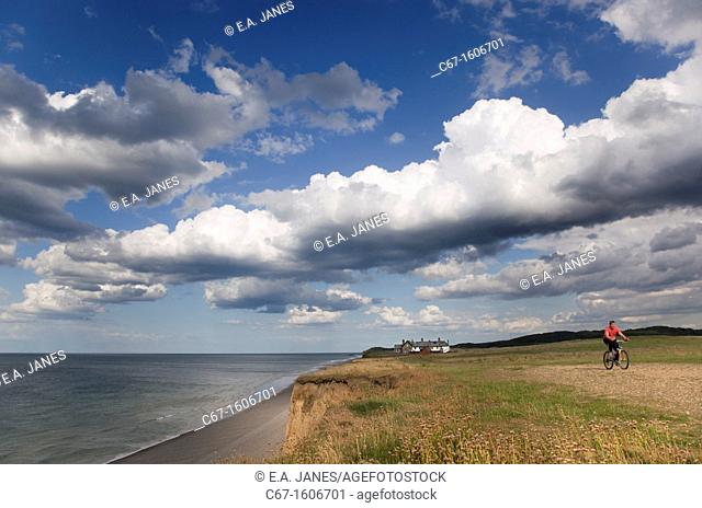 Coastal Path Weybourne Norfolk and summer sky