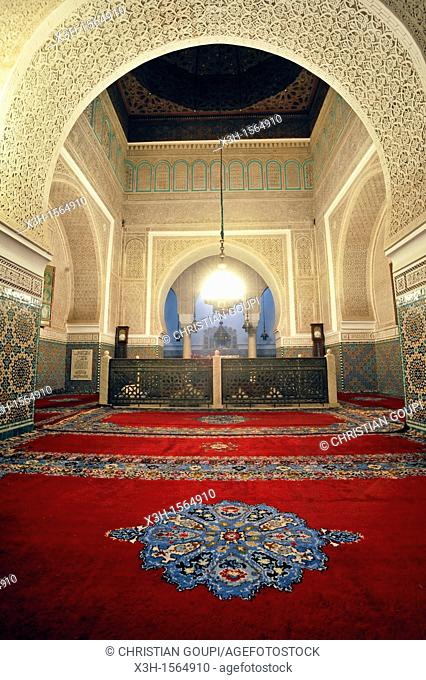 Moulay Ismail Mausoleum, Meknes, Morocco, North Africa