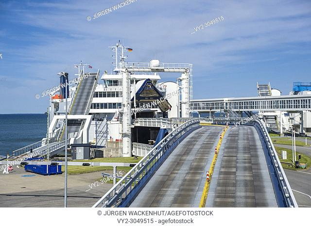 Harbor, Puttgarden, Fehmarn, Baltic Sea, Schleswig-Holstein, Germany, Europe