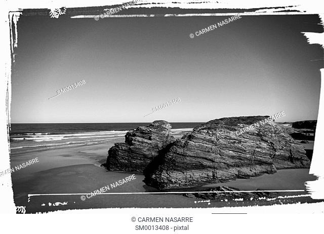 Beach of Las Catedrales, Lugo, Galicia