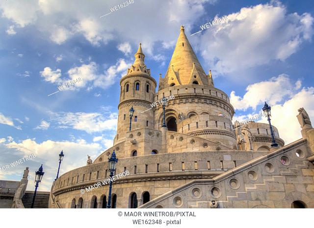 The Fisherman's Bastion, inside Buda Castle district, Budapest, Hungary.