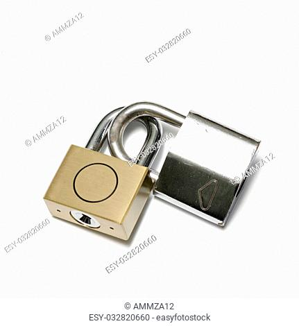 padlock on a white background