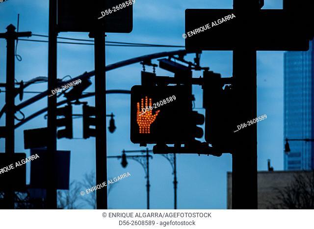 Traffic lights, NYC , USA