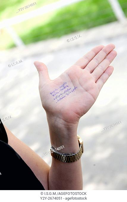 Exercise answers in scholar hand