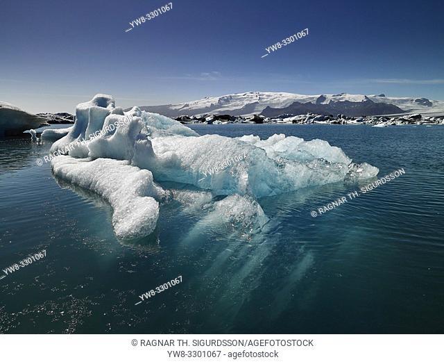 Icebergs, Jokulsarlon Glacial Lagoon, Iceland