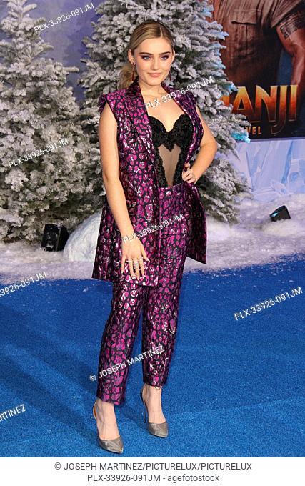 """Meg Donnelly at Sony Pictures' """"""""Jumanji: The Next Level"""""""" World Premiere held at the TCL Chinese Theater in Hollywood, CA, December 9, 2019"""