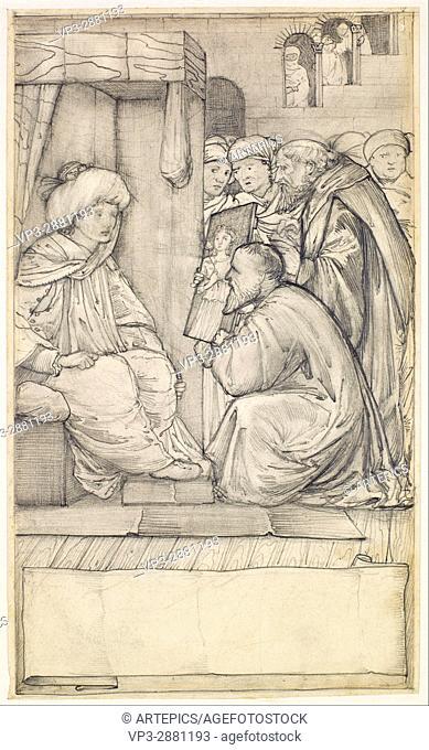 Edward Burne-Jones - Chaucer's Man of Laws Tale - Design - Birmingham Museum and Art Gallery